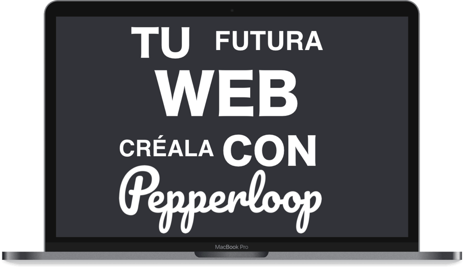 Crea tu futura web página web website sitio web con Pepperloop