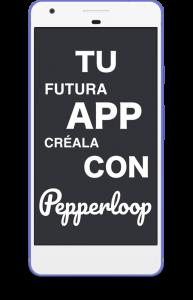Crea tu app android tablet telefono smartphone con Pepperloop